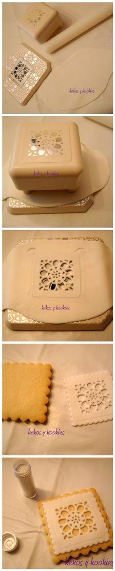 Scrapbooking tools for cookies (Tutorial by Canela en casa)...food safe?