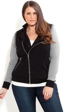 City Chic - ZIP HOODIE - Women's Plus Size Fashion [ HGNJShoppingMall.com ] #plussizeclothing #Plussizeclothesforfall