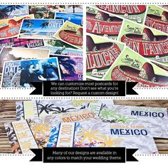 Save the Date Postcard  Cancun Vintage Mexico by sproulliedesigns, $20.00
