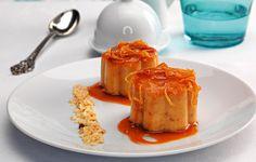 Sobremesa: Pudim de arroz e laranja