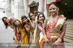 Indian bride with her bridesmaids by Amar Ramesh Photography