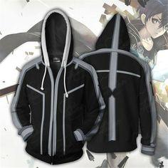 44f54b9bab Sword Art Online Kirigaya Kazuto Hoodie Sweatshirts Hooded Coat Zipper  Jacket #fashion #clothing #