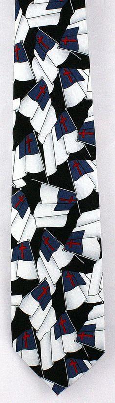 New Christians Joy Mens Necktie Christian Flag Religious Easter Black Neck Tie  #CliftonsCoveTiesExpress #NeckTie