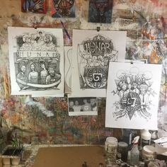 Studio shot of the Hunab #madhatch #ink #drawings still in progress