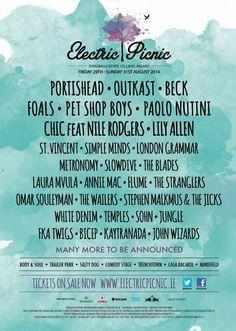 29 – 31 August 2014 @ Stradbally Estate, Co. Laois - Electric Picnic Music & Arts Festival