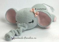 Вязание крючком игрушки - слоника-сплюшки (6)