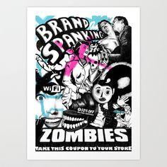 Brand Spanking Sidebottom Art Print by Want Some? - $20.00 - Street Art inspired Illustration Tetris