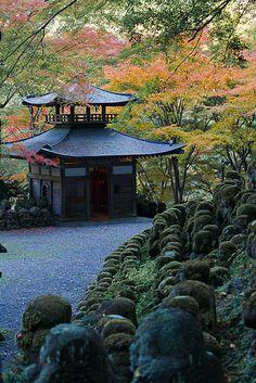 Kyoto Arashiyama Atago Nenbutsuji temple  京都嵐山愛宕念仏寺