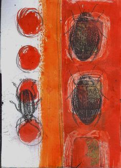 Sue Brown Printmaker Intaglio Printmaking, Collagraph, Brown Bugs, Bug Art, Insect Art, Artist Sketchbook, Linocut Prints, Gum Arabic, Collective Nouns