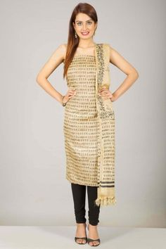 Quirky Culture: Warli Art Inspired Hand Block Printed Unstitched Suits - Home Page Display