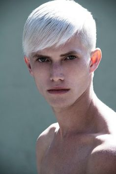 Nice Short Cut For Men With White Colouring