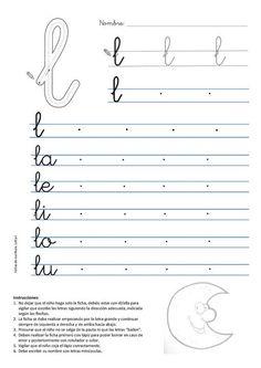 Ficha de Caligrafa para imprimir gratis Caligrafia letra p