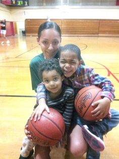 #BCC's Ashley Tillman with her two sons Jayden ,3, left, and Jaylon, 4, during a recent practice.