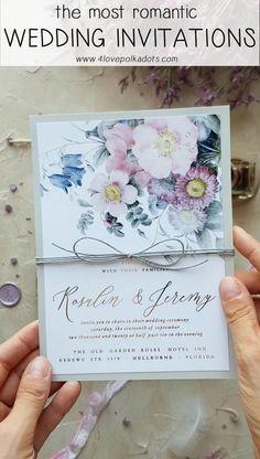 The most romantic wedding invitations #pastelpink #weddinginvitations #vintagewedding
