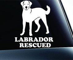 Labrador Retriever Rescued Lab Symbol Decal Paw Print Dog Puppy Pet Family Breed Love Car Truck Sticker Window (White) ExpressDecor http://www.amazon.com/dp/B00TQ4IK7Q/ref=cm_sw_r_pi_dp_MDl5ub1X6GZV2
