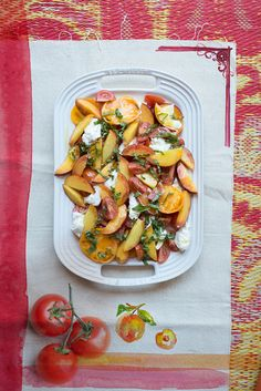 Let's Party: Peach Caprese Salad | BHG Delish Dish