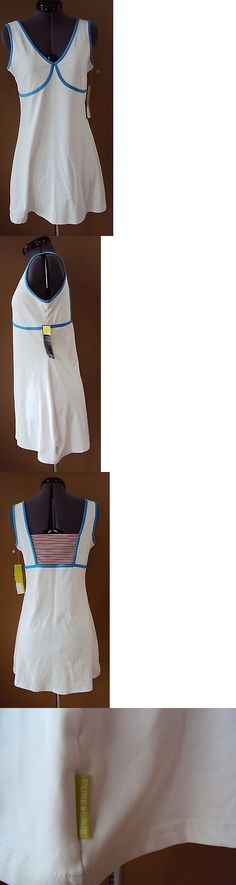 Skirts Skorts and Dresses 70901: Nwt Womens Pure Lime Breathe-Dri All American Tennis Dress White Regatta Blue M -> BUY IT NOW ONLY: $39.99 on eBay!