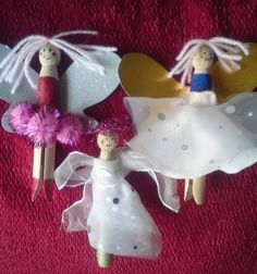 fairies from clothes pin