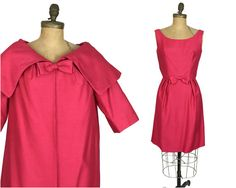 1960's Pink, Jackie O Kennedy style,,Two Piece Wiggle Dress and Coat Set