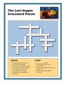 The Last Supper Crossword Puzzle