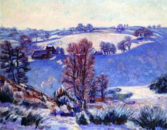 Frost at Crozant (Armand Guillaumin - 1909)