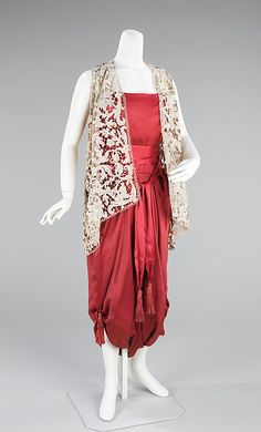 Callot Soeurs (French, active 1895–1937). Dress, Evening, ca. 1913. Designer: Madame Marie Gerber (French). French. The Metropolitan Museum of Art, New York. Brooklyn Museum Costume Collection at The Metropolitan Museum of Art, Gift of the Brooklyn Museum, 2009; Gift of Mercedes de Acosta, 1954 (2009.300.1200) #reddress