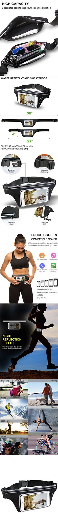 Waist Purse Im with Stupid Unisex Outdoor Sports Pouch Fitness Runners Waist Bags