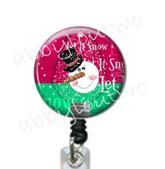 Let it Snow Badge Reel #idtag #badgereel #idholder #abbyloutwo #name #badgeholder #stethoscopeidtag #stethoscope #initials #monogrammed #personalized