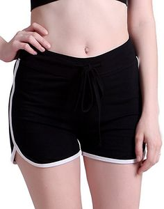 HDE Women's Retro Fashion Dolphin Running Workout Shorts (Black, Medium) at Amazon Women's Clothing store: