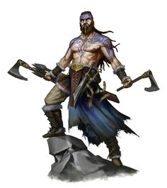 Male Human Viking Fighter Barbarian - Pathfinder PFRPG DND D&D 3.5 5th ed d20 fantasy