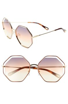 6ddf4b4ba912 Chloé 58mm Octagonal Halo Lens Sunglasses