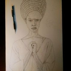"""""""Most intellects do not believe in God, but they fear us just the same.."""" #Instaart #drawing #pencil #sketchbook #illustration #portrait #ErykahBadu #A3 #youngblackartists #blackart"""