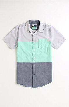 Modern Amusement Blockhead Short Sleeve Woven Shirt at PacSun.com