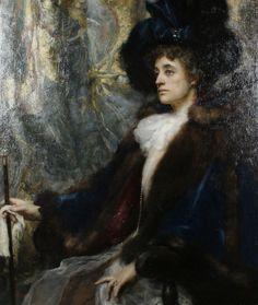 Portrait of The Lady Mayoress of London, Lady Newton? by Henrietta Rae (English 1859-1928)