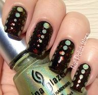 Pinned by www.SimpleNailArt... SIMPLE NAIL ART DESIGN IDEAS -   Nail Polish Wars: Dotted Digits with Clean Color and China Glaze #nails