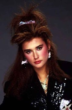 Because you won't ever run the risk of bringing this photo of Demi Moore to your hairdresser. | 17 Reasons To Thank God Your Hair Isn't In The '80s