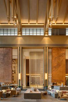 Crowne Plaza Nanchang_Lobby Lounge Restaurant Hotel, Casa Hotel, Hotel Lounge, Lobby Lounge, Hotel Lobby Design, Interior Modern, Design Commercial, Design Living Room, Design Bedroom
