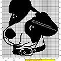 Free Chats et Chien - Page 5 - Mes petites croix et moi ! Dog Cat, Cross Stitch, Snoopy, Crochet, Attention, Fictional Characters, Craft, Simple Cross Stitch, Dots