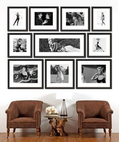 Celebrity Archive Collection of Black and White Framed Prints-FREE SHIPPING!