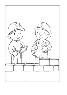 Bob The Builder Printables free pdf. Bob The Builder's animated series is a program that introduces the profession as a building contractor to children. Bob The Builder's animated series . Tractor Coloring Pages, Train Coloring Pages, Love Coloring Pages, Cartoon Coloring Pages, Free Printable Coloring Pages, Coloring Pages For Kids, Coloring Books, Free Online Coloring, Free Coloring