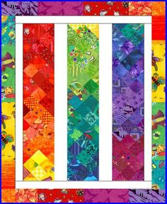 (7) Name: 'Quilting : Memories Of Sochi/Love the bands of color; don't like white frame or border.