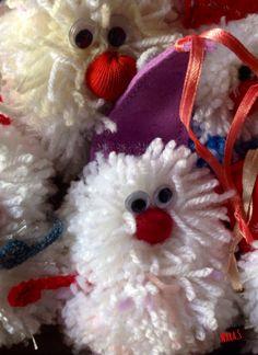 """Gnomes"" thread & sintetic fabric  Size 15x7 Size 17x7 handmade by Nara Stepanyan"