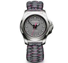 fcbdcc716f5 Victorinox Swiss Army I.N.O.X V Grey Dial Grey with Pink Stitching Paracord  Bracelet Watch 241771