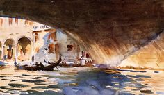 Under the Rialto Bridge (1909)  by John Singer Sargent (Museum of Fine Arts, Boston, Mass) (Viewed as part of the John SInger Sargent Watercolors exhibit 2014)