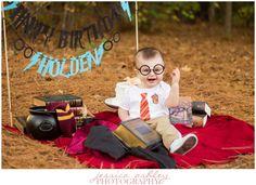 Holden's one year Harry Potter cake smash!