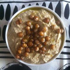 Hummus med ristede kikærter