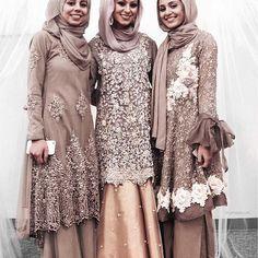 Ideas dress hijab wedding abayas for 2019 Street Hijab Fashion, Abaya Fashion, Muslim Fashion, Modest Fashion, Model Kebaya Muslim, Muslim Dress, Muslim Hijab, Dress Brokat, Kebaya Dress