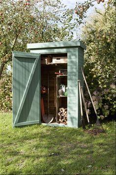 Abri de jardin pour ranger ses outils http://www.m-habitat.fr/abri-de-jardin/les-types-d-abris/abri-de-jardin-a-toit-plat-1000_A #rangement #jardin
