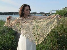 Ravelry: Emma42's cotton linen shawlettes