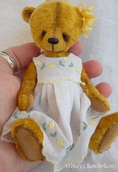 Bronwen, a handful of bear. Artist designed teddy bear. by Wendy Chamberlain
